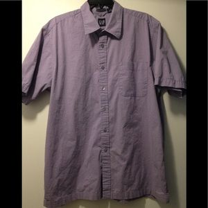 Gap Stretch short sleeve button down shirt Mens XL